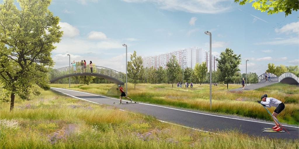 Лыжероллерная трасса в парке имени 850-летия Москвы откроется в сентябре